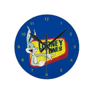 Reloj Redondo Mediano Remiendo retro LOONEY del ™ TUNES™ de BUGS BUNNY
