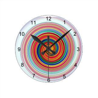 Reloj Redondo Mediano Remolinos del color primario