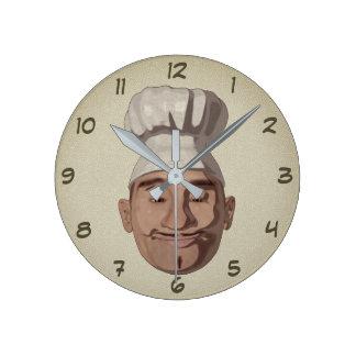 Reloj Redondo Mediano Restaurante 3 del cocinero