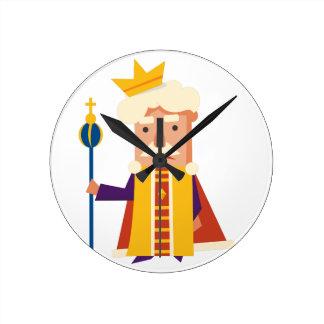 Reloj Redondo Mediano Rey personaje de dibujos animados