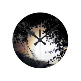 Reloj Redondo Mediano Robles de Sun y de Pin