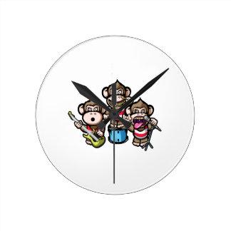 Reloj Redondo Mediano Roca de los monos