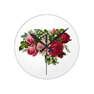 Reloj Redondo Mediano Romance clásico del lirio de los valles de los