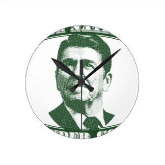 Reloj Redondo Mediano Ronald Reagan una nación debajo de dios