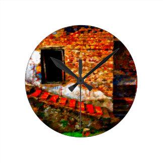 Reloj Redondo Mediano Ruinas en Pompeya Italia