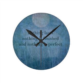 Reloj Redondo Mediano Sabi del wabi de la cita de la aceptación