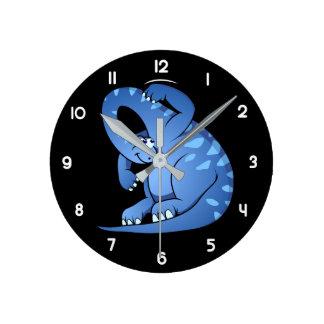 Reloj Redondo Mediano Sauropod del bebé
