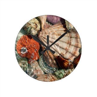 Reloj Redondo Mediano Seashells