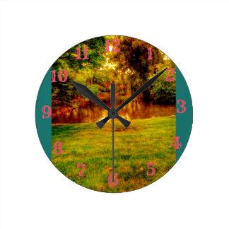 Reloj Redondo Mediano Selva del verano