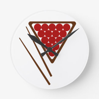 Reloj Redondo Mediano Señales del estante del billar y del billar