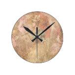 Reloj Redondo Mediano Señora Print Clock del Victorian del vintage