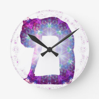 Reloj Redondo Mediano Serie de la actitud de la diosa de la yoga