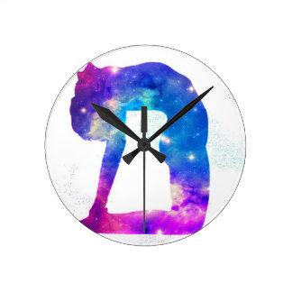 Reloj Redondo Mediano Serie de la diosa de la yoga del universo