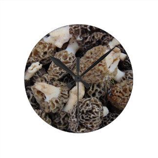 Reloj Redondo Mediano Setas de la morilla