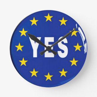 Reloj Redondo Mediano Sí a la UE - estancia en la unión europea