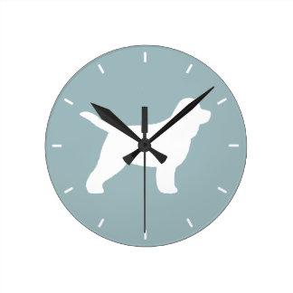Reloj Redondo Mediano Silueta de Cockapoo