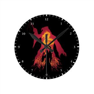 Reloj Redondo Mediano Silueta de Harry Potter el | Dumbledore