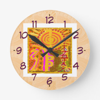 Reloj Redondo Mediano Símbolos curativos de REIKI