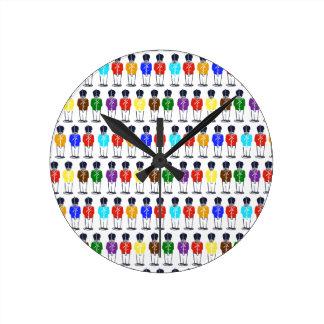 Reloj Redondo Mediano Soldados multicolores
