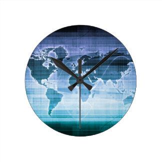 Reloj Redondo Mediano Soluciones globales de la tecnología