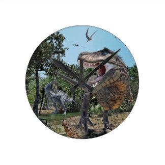 Reloj Redondo Mediano Suchomimus y confrontación de Rex del