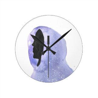 Reloj Redondo Mediano Sudadera con capucha hecha de luz de las estrellas