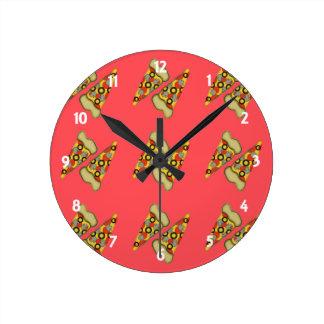 Reloj Redondo Mediano Sueño con la pizza