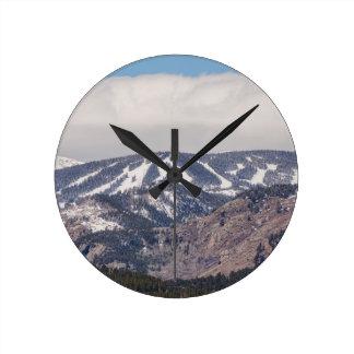 Reloj Redondo Mediano Sueño de la cuesta del esquí