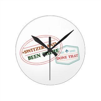 Reloj Redondo Mediano Suiza allí hecho eso