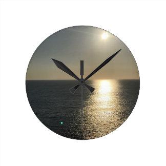 Reloj Redondo Mediano Sun en el agua