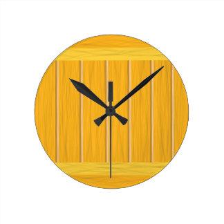 Reloj Redondo Mediano tablones de madera