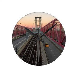 Reloj Redondo Mediano Taxi de Brooklyn
