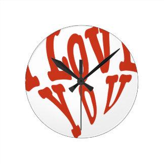 Reloj Redondo Mediano Te amo corazón