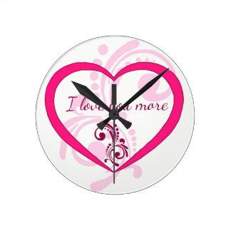 Reloj Redondo Mediano Te amo más
