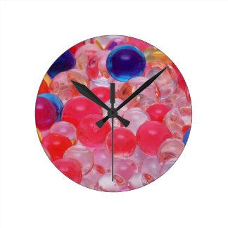 Reloj Redondo Mediano textura de las bolas del agua