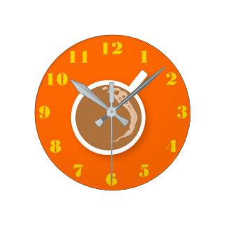 Reloj Redondo Mediano Tiempo de Coffe