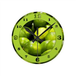 Reloj Redondo Mediano Tiempo de la cal