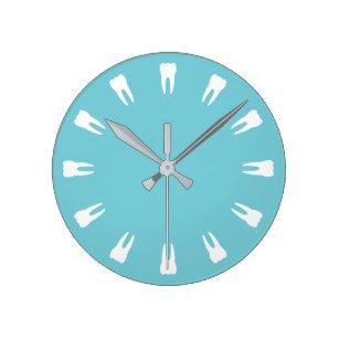 Reloj Redondo Mediano Tiempo de los dientes
