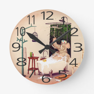 Reloj Redondo Mediano Tiempo del baño