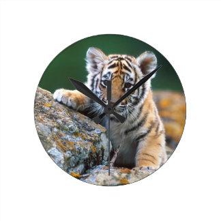 Reloj Redondo Mediano Tigre Cub de bebé