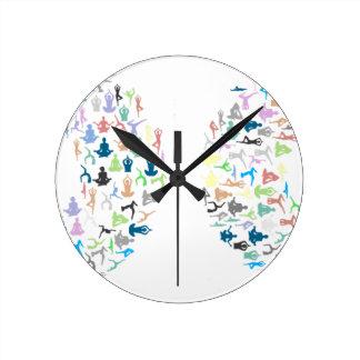 Reloj Redondo Mediano Tipografía de la yoga