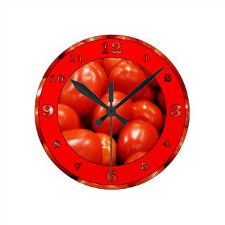 Reloj Redondo Mediano Tomates de Roma