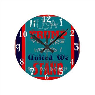 Reloj Redondo Mediano ¡Triunfo de los E.E.U.U. le contratan! ¡Unido nos