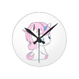 Reloj Redondo Mediano Unicornio del bebé