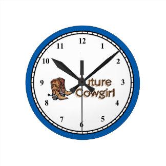 Reloj Redondo Mediano Vaquera futura