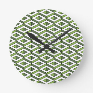 Reloj Redondo Mediano verdor y col rizada de la geometría 3d