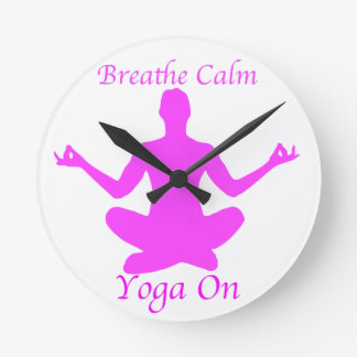 Reloj Redondo Mediano Yoga BreatheCalmYogaOn