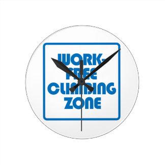 Reloj Redondo Mediano Zona que sube libre del trabajo