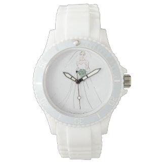 Reloj Reloj, blanco, deportivo, silicio, cutstom