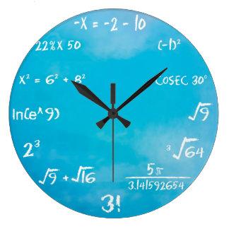 Reloj - reloj de pared azul de la matemáticas
